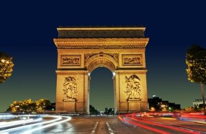 "The Arc de Triomphe (in English: ""Triumphal Arch"") honours those who fought and died for France in the French Revolutionary and the Napoleonic Wars, with the names of all French victories and generals inscribed on its inner and outer surfaces."